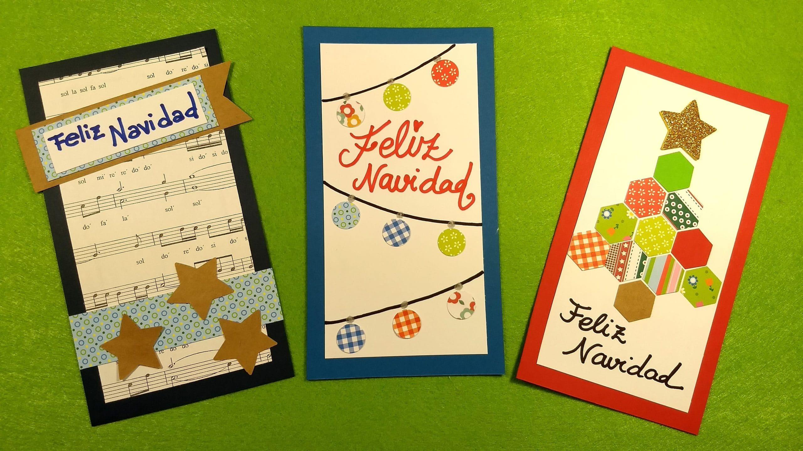 Hacer Felicitaciones De Navidad Por Internet.3 Tarjetas De Navidad Muy Faciles Para Hacer Con Ninos