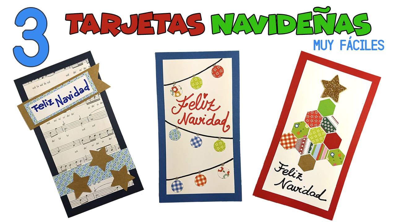 3 tarjetas de navidad muy f ciles para hacer con ni os - Tarjetas de navidad faciles ...