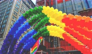 bandera con globos