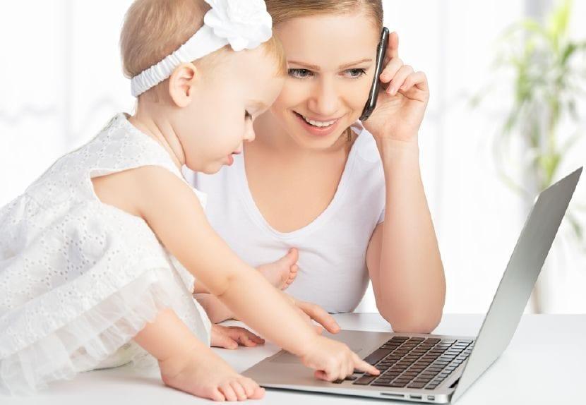 madre trabajadora de éxito
