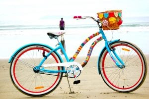 bicicleta de colores