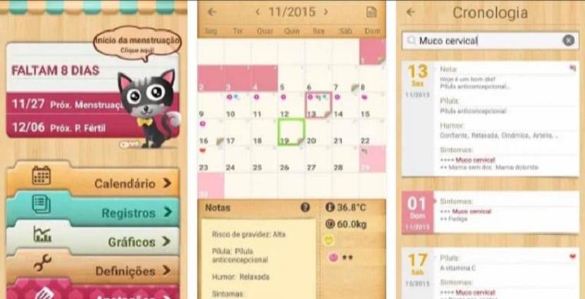 Aplicación para controlar la menstruación