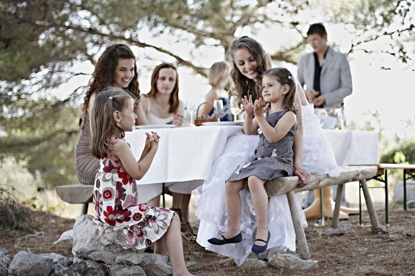 boda en el campo con nenes