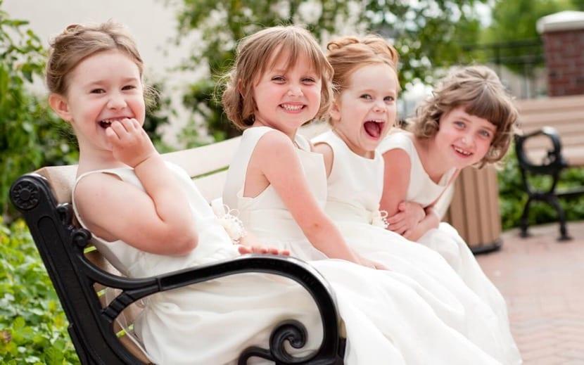 hijas en una boda