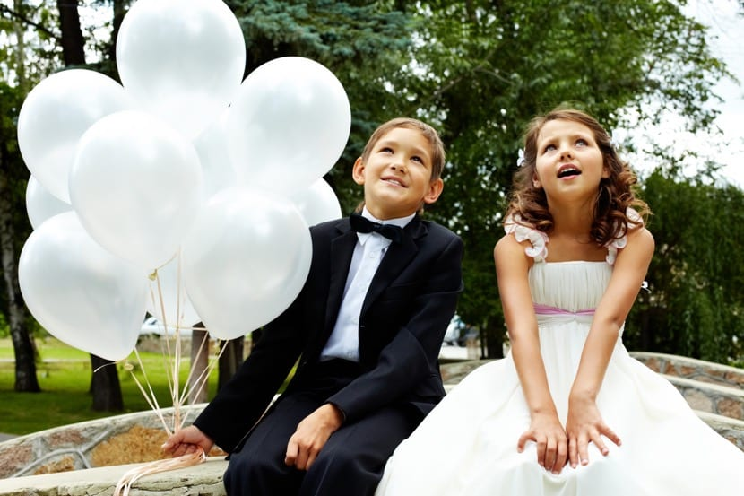 hijos para foto de boda