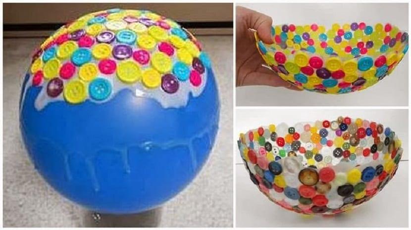 Cuenco hecho de botones