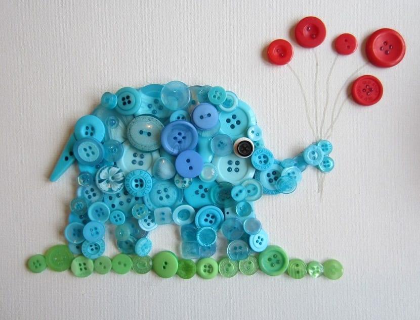 Elefante de botones