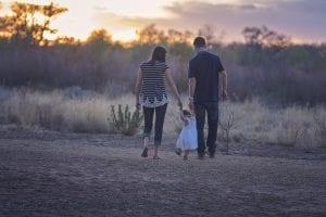 padres paseando