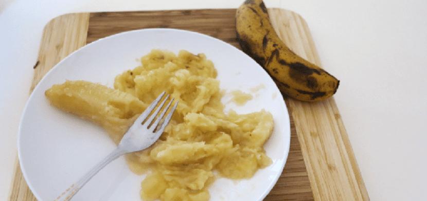 Plátano triturado