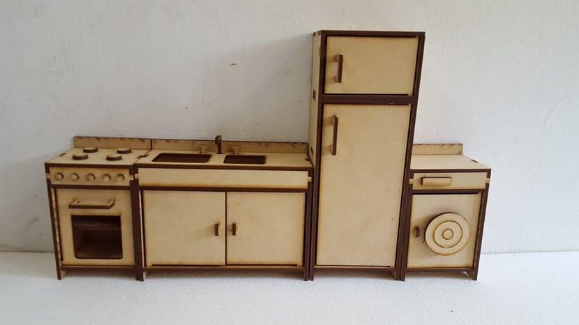 C mo hacer 5 muebles de cart n para una casa de mu ecas Muebles de cocina en madera mdf
