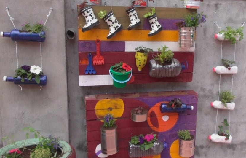 Jardín vertical para niños