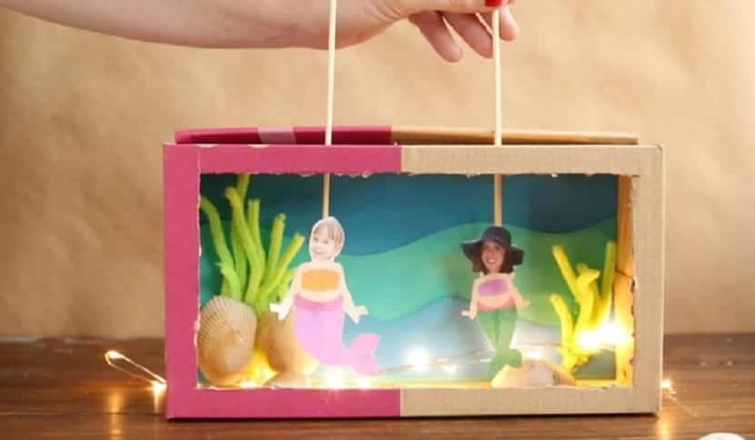 Teatro de marionetas en miniatura