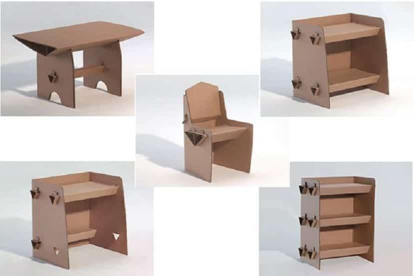 Muebles de salón para casa de muñecas