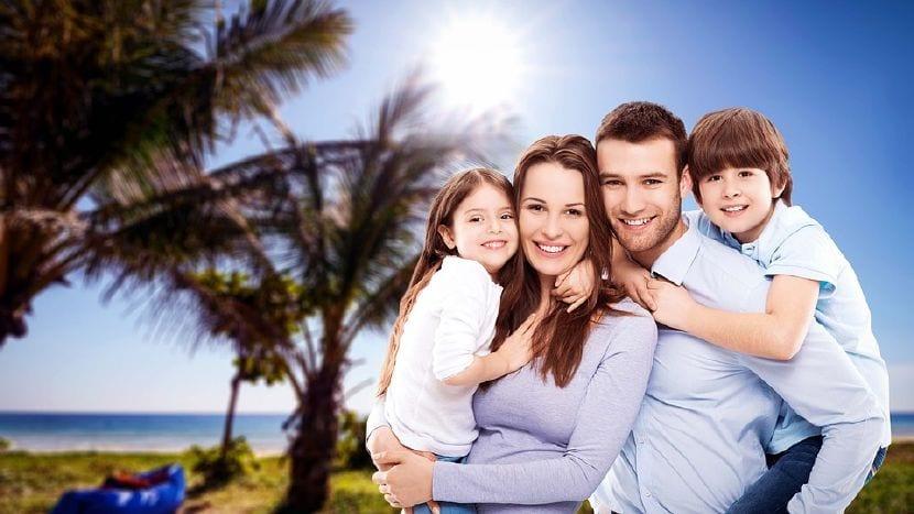 vacaciones felices familia