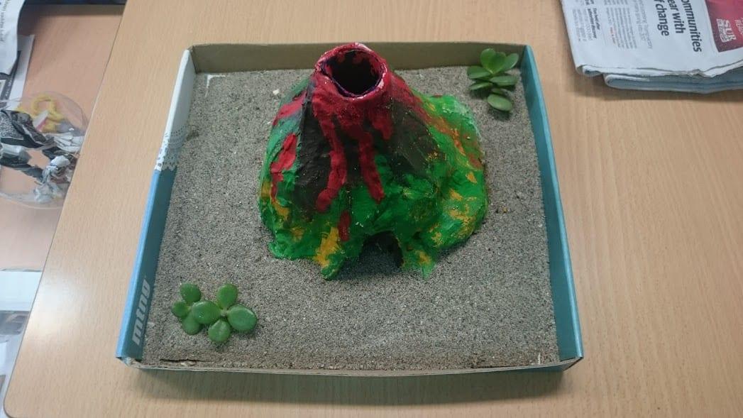 Volcán casero