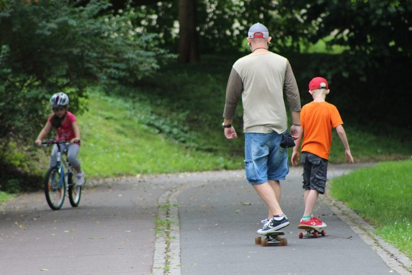 Deporte en familia en verano