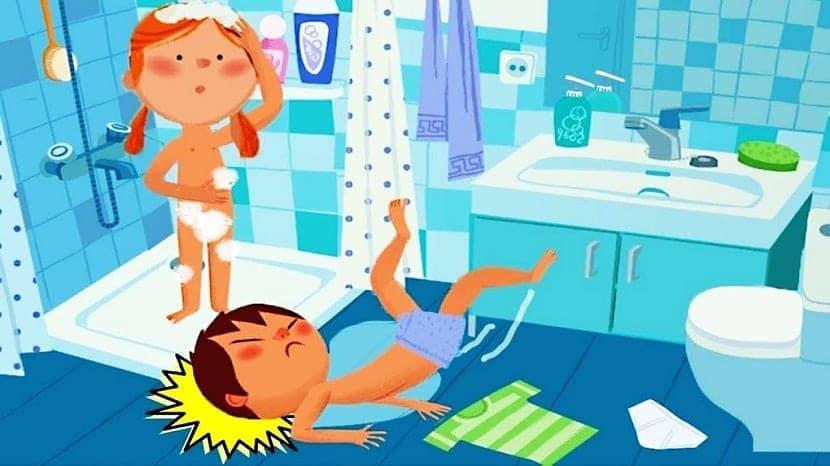 Caída accidental en el baño