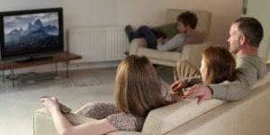 televisión en familia