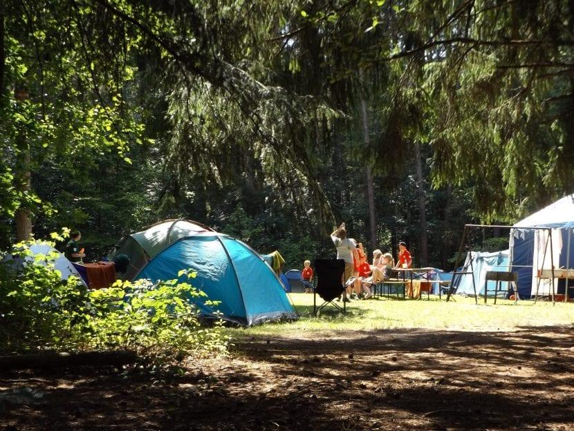 Consejos para acampar en familia