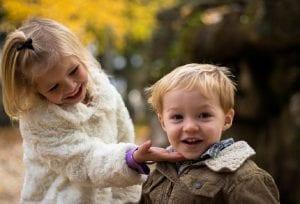 alegría en los niños
