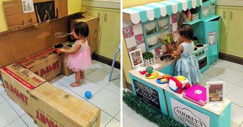 Cocinita de juguete DIY