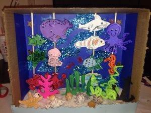 Diorama marino