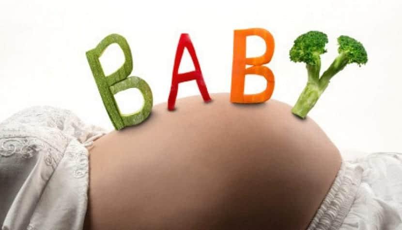 Embarazada vegetariana