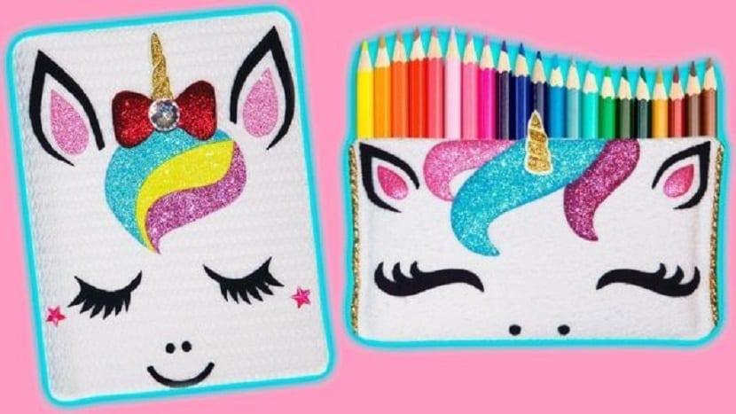 Estuche unicornio para lápices DIY