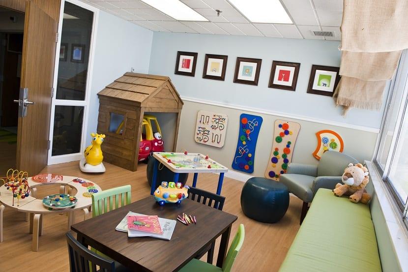 Sala de espera en hospital infantil
