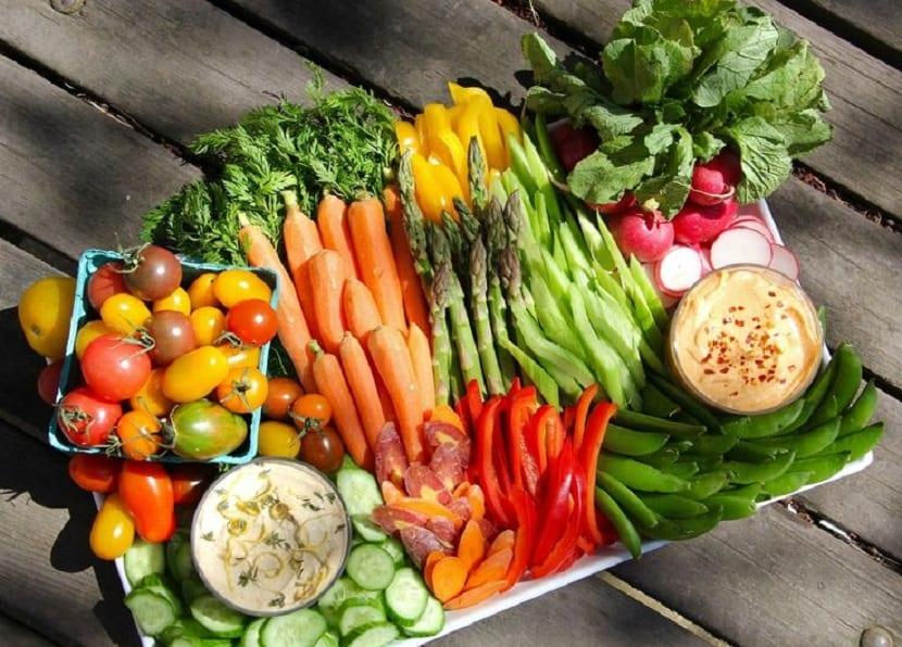 Distintos tipos de verduras