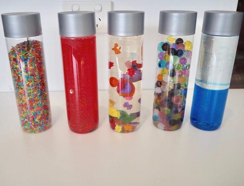 Botellas de estimulación sensorial