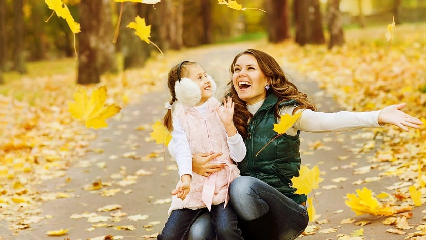 Madre e hija agradecidas