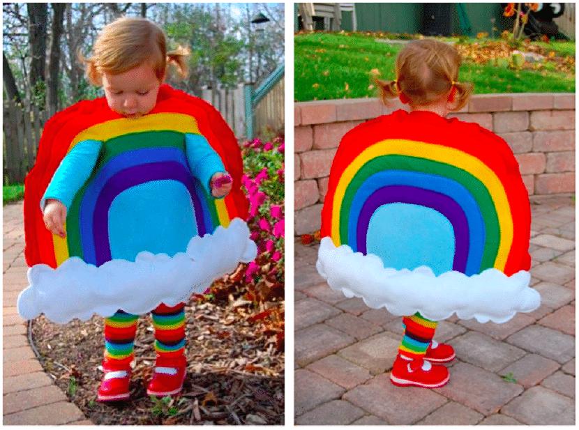 Disfraz de arcoiris para niños