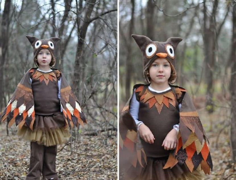 Disfraz de búho para niños
