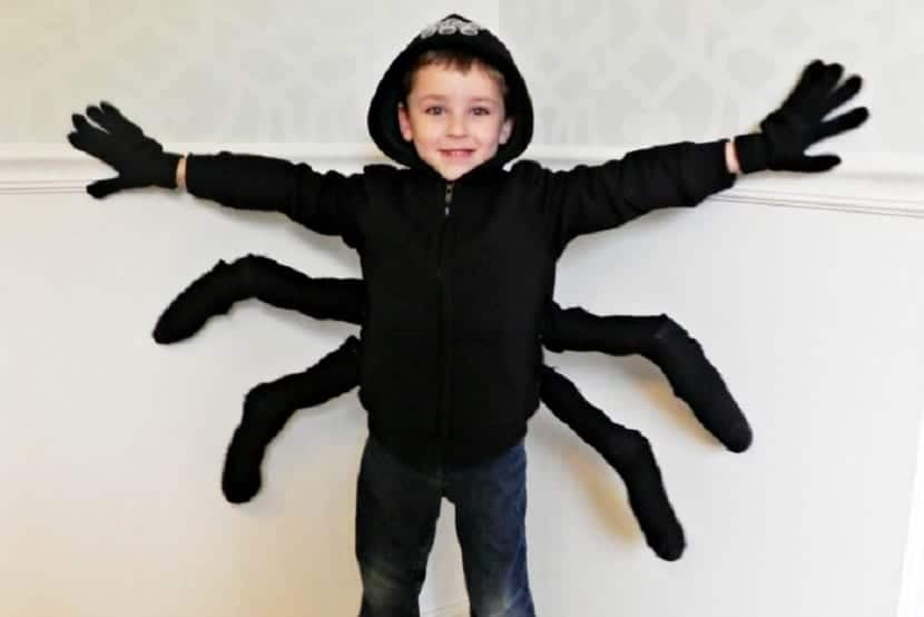 Disfraz de araña de última hora
