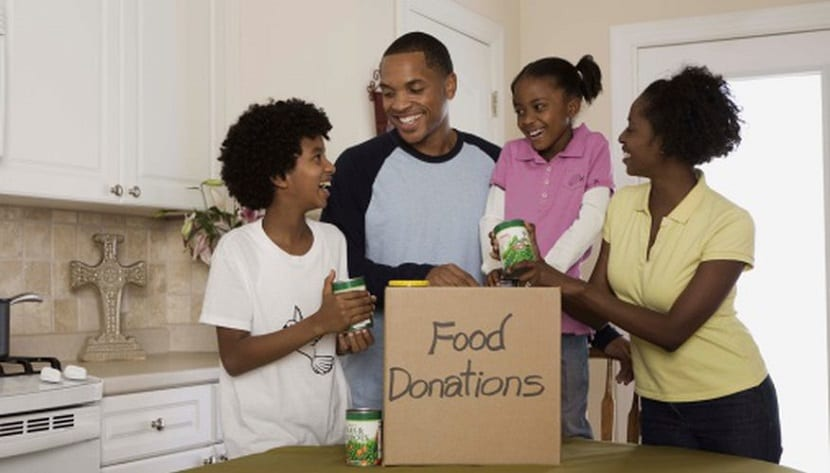 Recogida de alimentos para donar