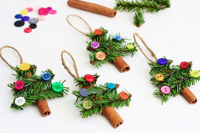 Adornos para el árbol de Navidad con canela