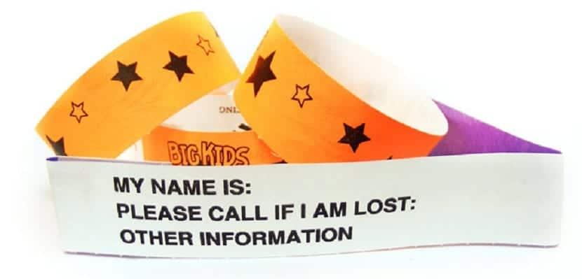 Brazalete de identificación para niños