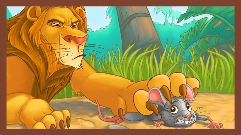 Fábula el león y el ratón