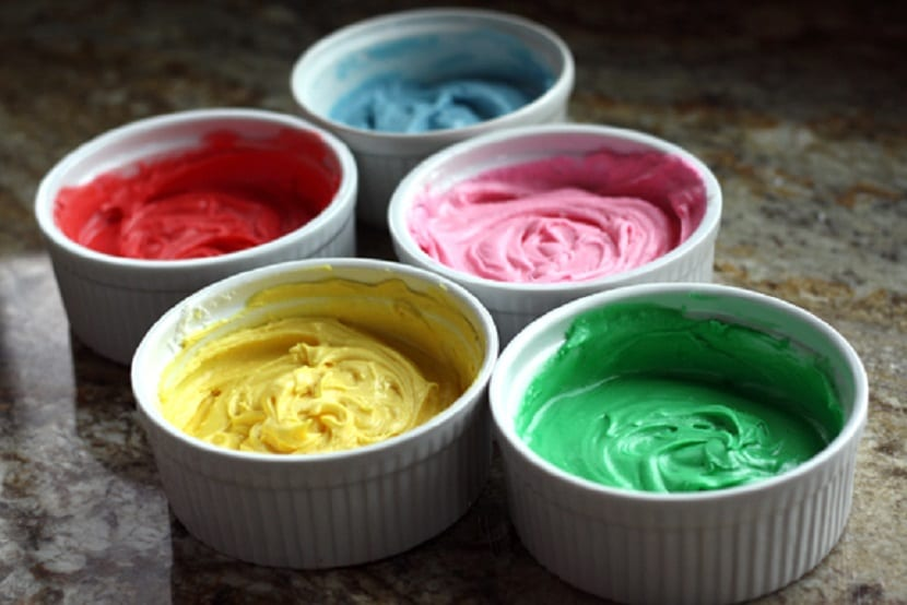 Glaseado de colores para dulces