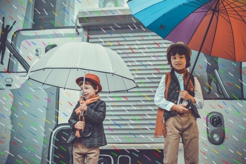 Niños posan para un anuncio de televisión.
