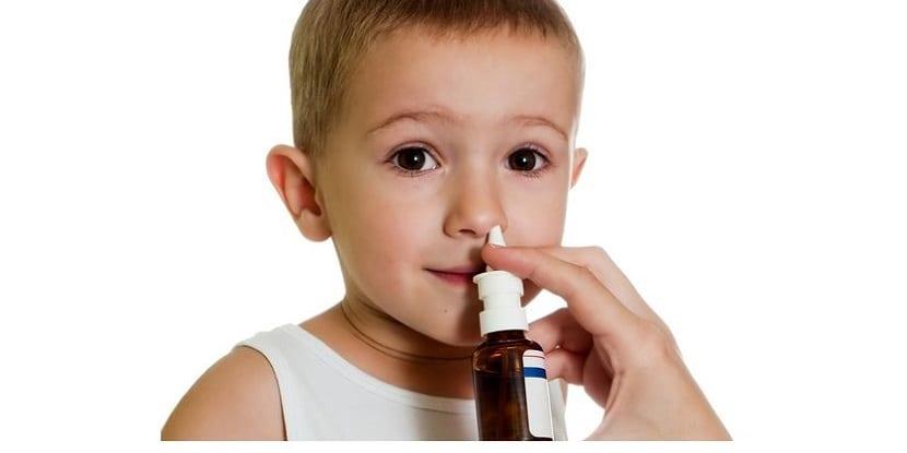 lavado nasal en niños