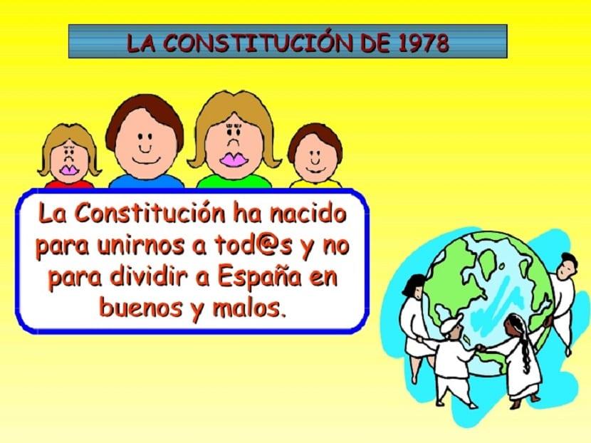 La Constitución Española para niños