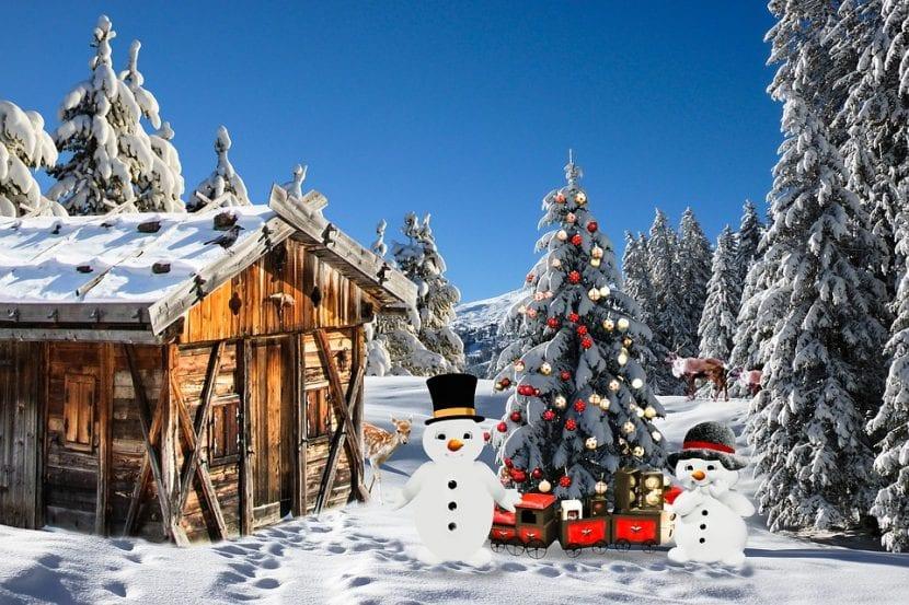 Cabaña en la nieve para reunirse con amigos y disfrutar la nochevieja.