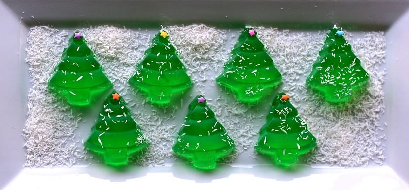 Gelatinas de árboles de Navidad
