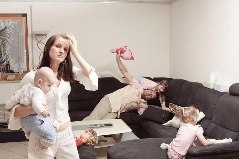 Madre estresada