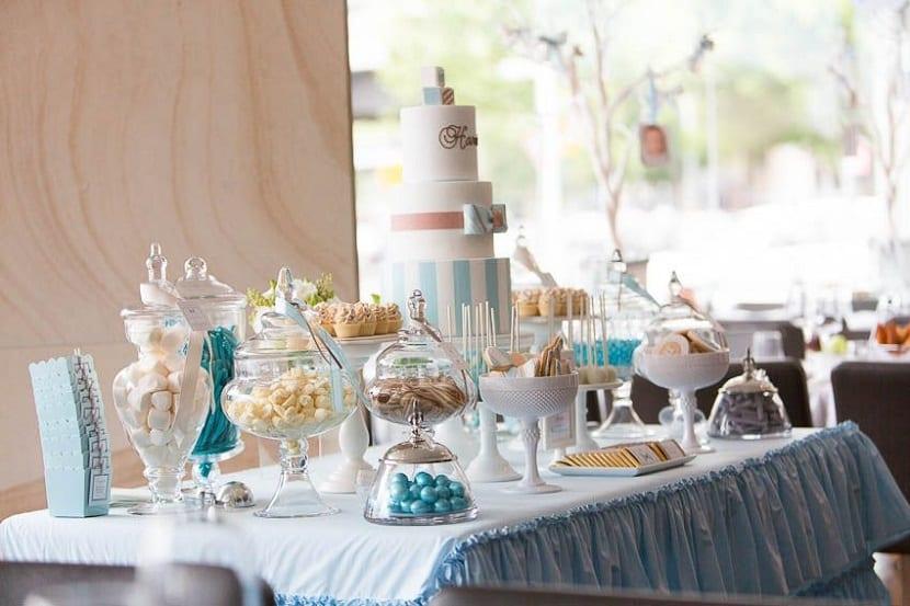 Mesa dulce para un bautizo