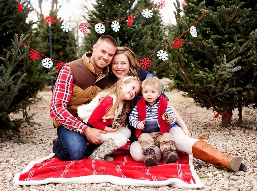 Picnic familiar en Navidad