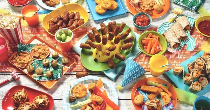 Comida para una fiesta infantil