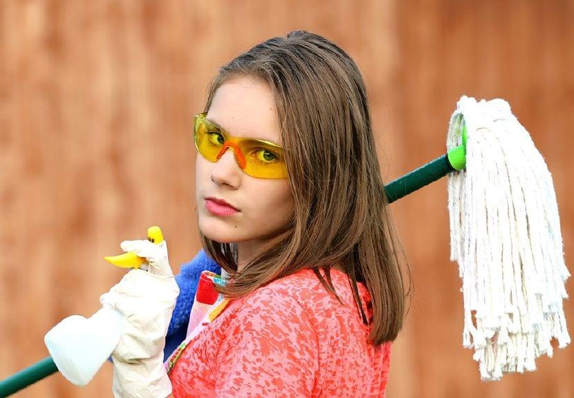 limpieza con niños